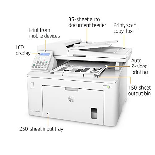 HP LaserJet Pro M227fdn All in One Laser Printer with Print Security, Amazon Dash Replenishment ready (G3Q79A). Replaces HP M225dn Laser Printer by HP (Image #1)
