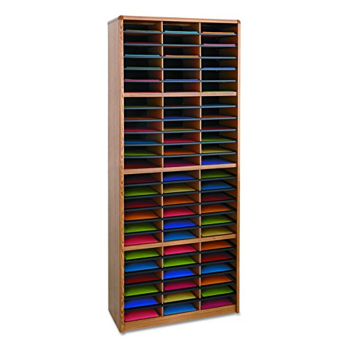 Safco Products 7131MO Value Sorter Literature Organizer, 72 Compartment, Medium Oak (Medium Oak Literature Organizer)