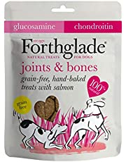 Save on Forthglade 100 Percent Natural Dog Treats for Joints and Bones Grain Free Baked Treats with Salmon, Glucosamine and Chondroitin 150g , Pack of 4 and more