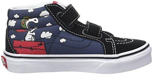 Vans Peanuts Sk8-Mid Reissue V, Zapatillas de Entrenamiento Unisex Niños Varios Colores (Flying Ace/dress Blues Peanuts)