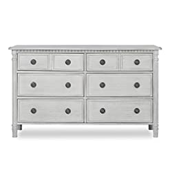 Bedroom Evolur Julienne 6 Double Dresser, Antique Grey Mist farmhouse dressers