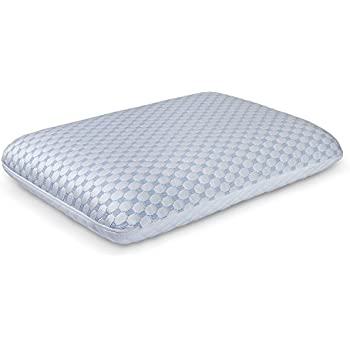 MEWE Dual-sided surface Gel infused open cell memory foam pillow for Sleeping Ventilated with cool sleep technology hypoallergenic 100%certipur-us certified(1 piece)