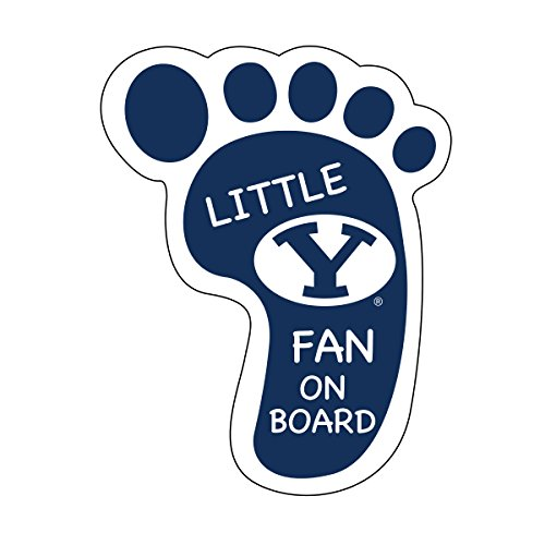 BYU Cougars Little Fan ON Board Magnet-Brigham Young University Footprint -