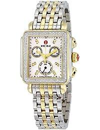 1ea5b220dc4f88 Women's MWW06P000108 Deco Analog Display Swiss Quartz Two Tone Watch ·  MICHELE