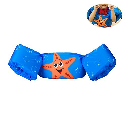 Elejolie Swim Aids for Toddlers,Kids Learn to Swim Life Jacket for Toddlers,Swim Aid Floater Life Vest (22-66lbs) (Starfish) (Jumpers Puddle Kids Shoes)