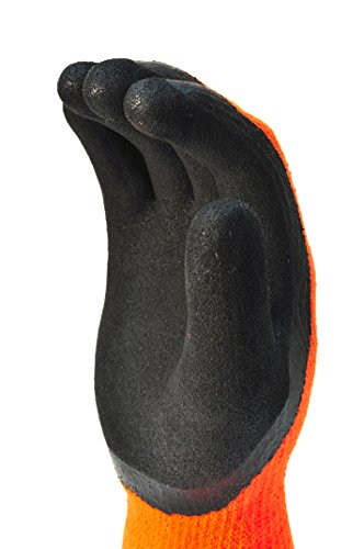 Cold Weather Insulated Mechanics Gloves (G & F 1528M GripMaster Cold Weather Outdoor Work Gloves, Winter Driving Gloves,  Micro-Foam Latex Double Coated, heavy Duty, Medium, 1 Pair)