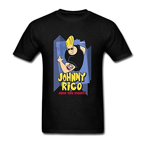Men's Johnny Bravo DIY Cotton Short Sleeve T Shirt