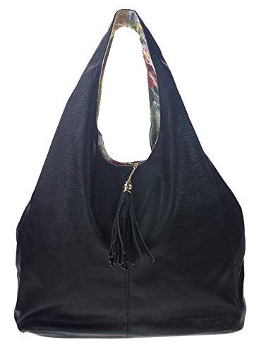 Reversible Hobo Handbag - 1