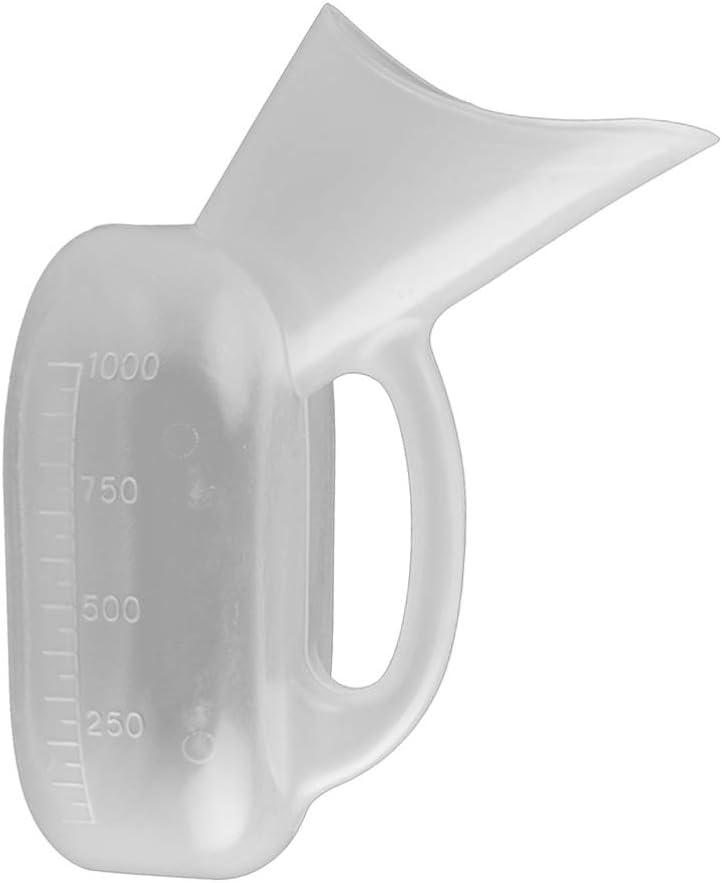 Milisten 2 Pcs Femelle Urinoir Bouteille Durine Femmes Urinoir Pot Urinoir Dispositif pour Lh/ôpital Maison Camping Voiture Voyage 1000 Ml