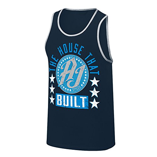 WWE AJ Styles The House That AJ Styles Built Tank Top Carolina Blue Small by WWE Authentic Wear