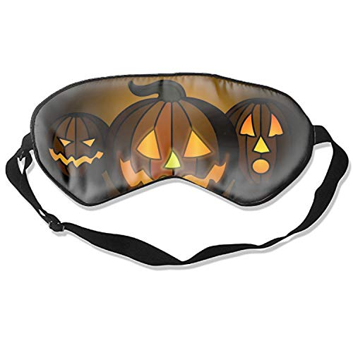 Sleep Mask Halloween Pumpkin Show Eye Cover Blackout Eye Masks,Soothing Puffy Eyes,Dark Circles,Stress,Breathable Blindfold For Women Men]()