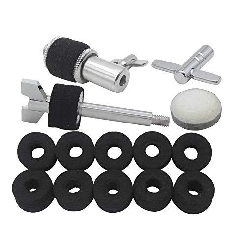 - ROWEQPP 5 Pcs/Set Hi-Hat Clutch Step Hammer Hammer Pad Felt Pad Hanging Screw Key Jazz Drum Percussion Instrument Accessory