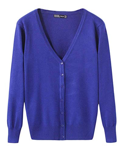A Base Colore Knit Button Giacca Giubbino Primaverile Donna Lily Cappotto neck Eleganti Fashion Puro Stlie Casual Maniche Unique Maglia Bobo V Lunghe Autunno PS6EWT