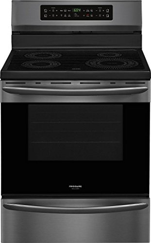 Frigidaire FGIF3036TD Gallery Series 30 Inch Freestanding Electric Range with 4 Elements, Smoothtop Cooktop, 5.4 cu. ft. Primary Oven Capacity, in Black Stainless Steel