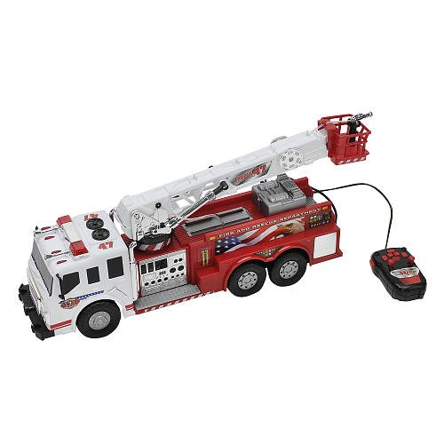 Amazon Com Fast Lane 21 Inch Remote Control Fire Truck Toys Games