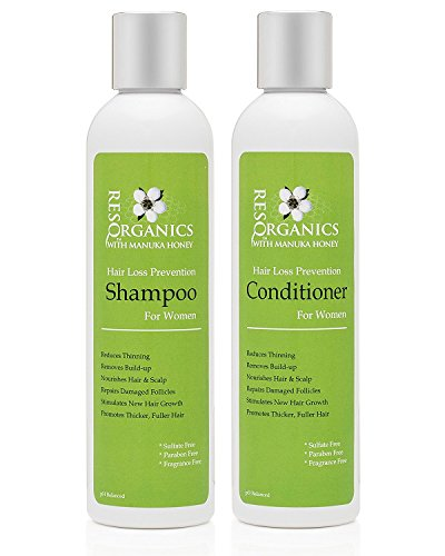 Thick & Nutrient Rich pH Balanced Shampoo & Conditioner – PREVENT HAIR LOSS, Reduces Itching, Dryness, Frizz, Thinning and Breaking – LOVE YOUR HAIR AGAIN!