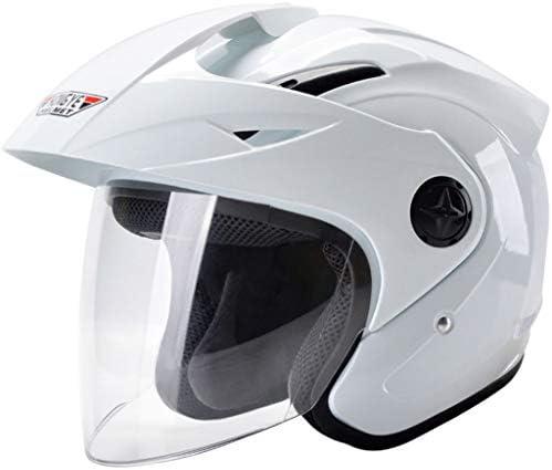 NJ ヘルメット- 電動オートバイのヘルメットの男性と女性の四季半分のヘルメット透明な防曇のヘルメット (色 : マットブラック まっとぶらっく, サイズ さいず : 18x22.5cm)