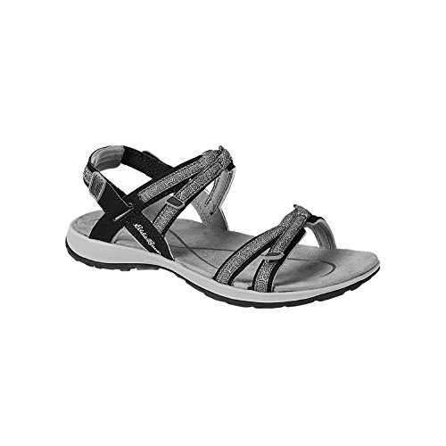 Eddie Bauer Women's esker Sandal, Black Regular 6M
