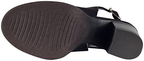 Toe Buckle Women's Black Bootie Fringe Oxford Peep Tassel Slingback Soda X4qgP
