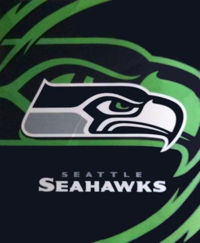 NFL Seattle Seahawks Royal Plush Raschel Blanket King Size