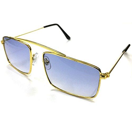 Silver Kartz Rectangular Unisex Sunglasses(Wy-149 55 Blue)
