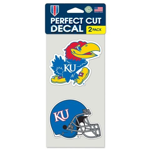 (Kansas Jayhawks Set of 2 Die Cut Decals)