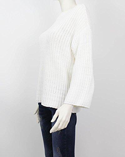 SELECTED FEMME Pull à manches longues en tricot à manches longues SFASTE pour femmes en blanc (L)