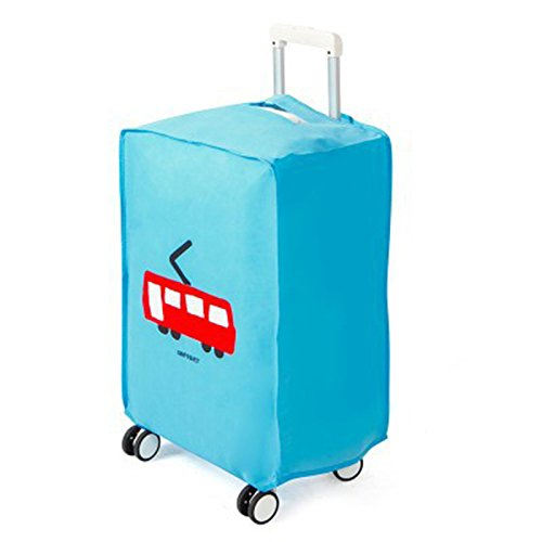 Cupcinu Suitcase Dust Cover High-grade Non-Woven FabricsTravel Luggage Cover Washable Luggage Cover Protector Fits 28…