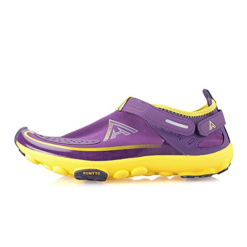 YIZER Water Shoes, Men Women Super Lightweight Breathable Mesh Aqua Shoes Swim Walking Lake Beach Boating (8 US Women/6.5 US Men, Purple) by YIZER