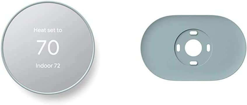 Google Nest Thermostat - Smart Thermostat for Home - Programmable Wifi Thermostat & Trim Kit - Made for the Nest Thermostat - Programmable Wifi Thermostat Accessory - Fog