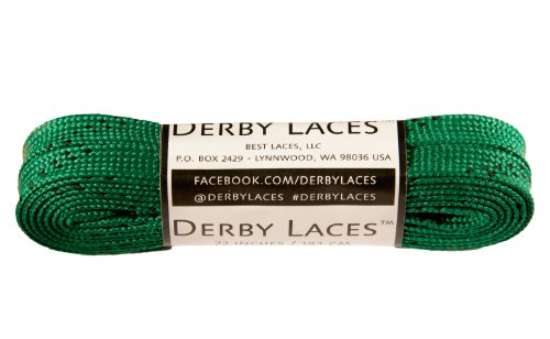- Derby Laces Kelly Green 72 Inch Waxed Skate Lace for Roller Derby, Hockey and Ice Skates, and Boots