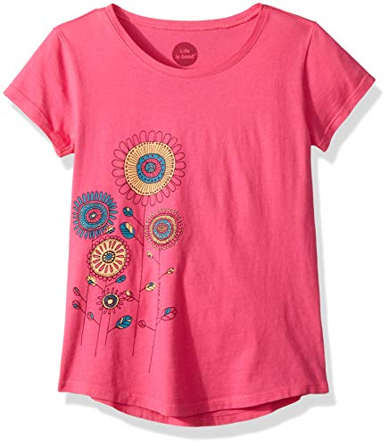 - Life is Good Girls Smooth Graphic T-Shirts Collection,Playful,Fiesta Pink,X-Large