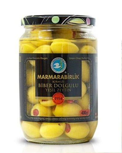 Marmarabirlik Green Olives with Red Peppers â€'' 1.5lb