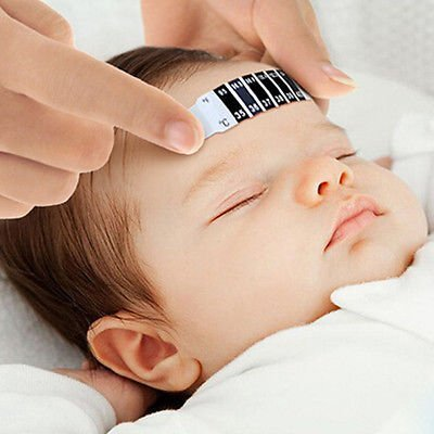 SUKRAGRAHA Safe Mercury FREE Infant Kids Newborn Baby Forehead Head Strip Check Thermometer 3 pc Set