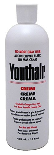 Youthair No More Gray Hair Creme For Men And Women 16 Ounce (473ml) (6 Pack)