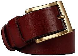 Galsang Men's Genuine Leather Bridle Belts#tz (41 in, Dark Coffee)