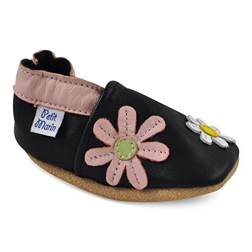 ef6ddedd14ad Petit Marin Beautiful Soft Leather Baby Shoes - Crib Shoes with Suede Soles  - Buy Online in Oman.