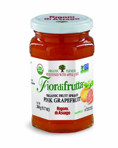 Grapefruit Spread - Rigoni di Asiago Fiordifrutta Organic Fruit Spread, Pink Grapefruit, 6 Count