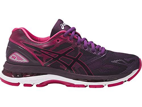 ASICS Womens Gel-Nimbus 19 Running Shoe, Black/Cosmo Pink/Winter Bloom, 8 Medium US (Asics Womens Gel Nimbus 18 Running Shoe)