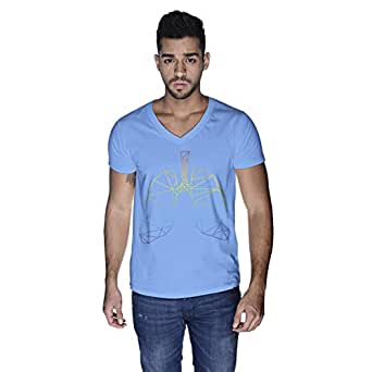 Creo Lungs Animal T-Shirt For Men - S, Blue