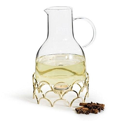 Sagaform Winter Mulled Wine Jug with Warmer Gold Coloured - 5017678 (Centrepieces Winter)