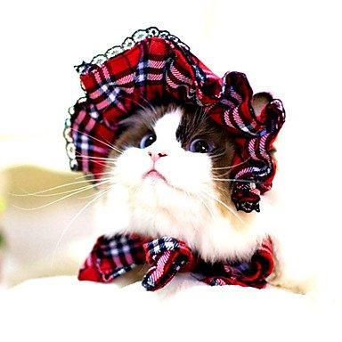 Y-Hui Bandanas para Gatos/Perros, Sombreros, Rojo/Negro, Ropa