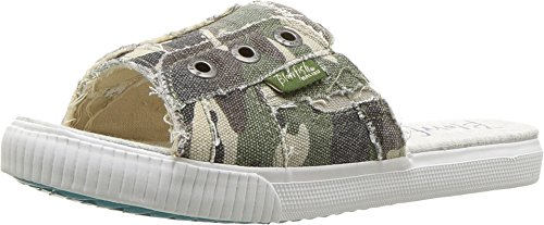 Blowfish Fresco Olive Washed Camo Womens Slide Size 6.5M