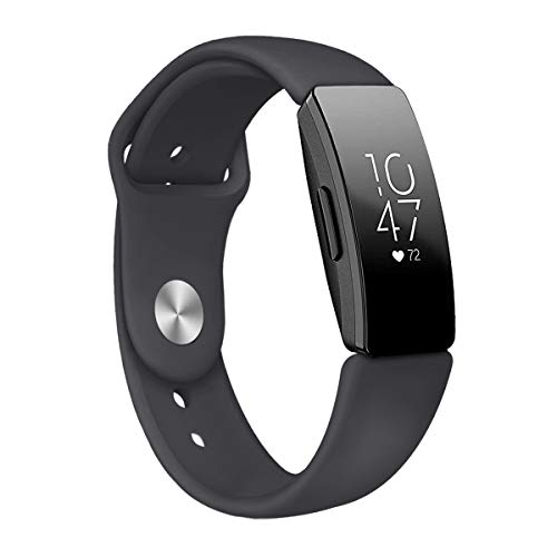 Tuff-Luv Replacement Adjustable Silicone Strap Bracelet Wrist Band [Small] for Inspire/Inspire HR - Black