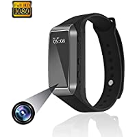 Smart Bracelet Hidden Camera,ESROVER 1080P HD Bracelet Mini Video Camera with Track Steps,Sleep Quality Monitoring,Surveillance Recorder Camcorder Suitable for iPhone & Android phones