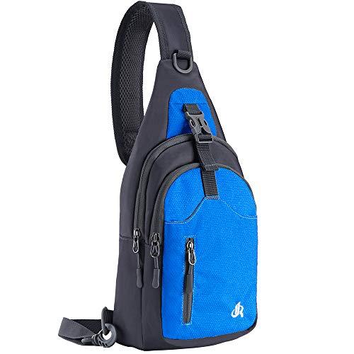 Y&R Direct Sling Bag Sling Backpack,Shoulder Chest Crossbody Bag Purse Nylon Lightweight MulticolorSmall Daypack Outdoor Hiking Camping Travel Women Men Boy Girls Kids Gifts (Sky-Blue) (Male Hiking Bag)
