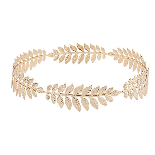 Price comparison product image Lux Accessories Gold Tone Grecian Game of Thrones Leaf Goddess Flower Crown