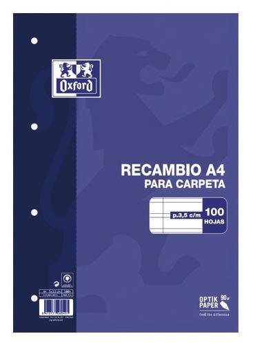 Oxford Classic 100430211 - Recambio hojas sueltas, A4 Hamelin Brands 121051994