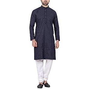 RC Ethnic Denim Kurta Pyjama Set For Men