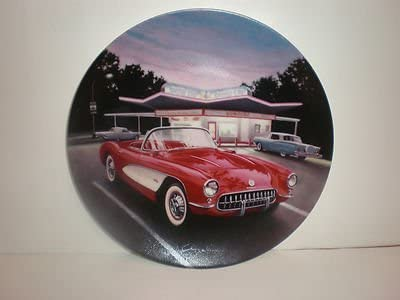 1957 Red Corvette Plate One Fabulous Cars of the Fifties